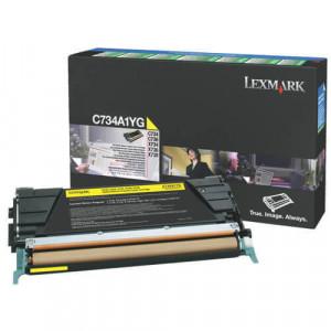 Lexmark C734dn Toner Original Amarelo C734A1YG